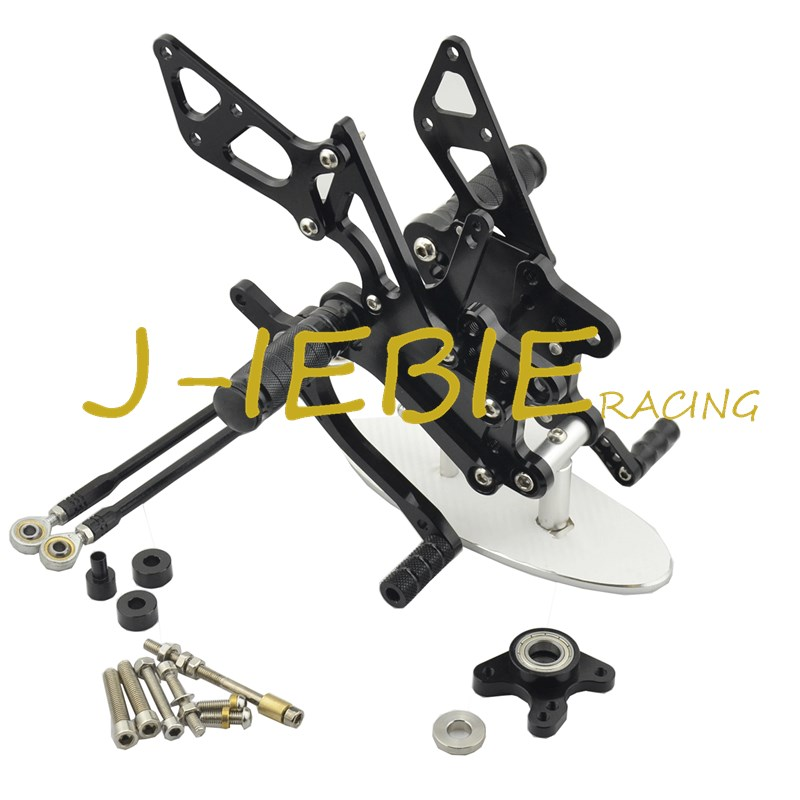 CNC Racing Rearset Adjustable Rear Sets Foot pegs Fit For Honda CBR600RR 2003-2006 CBR1000RR 2004 2005 2006 2007 BLACK black cnc racing motorbike footpegs rearset rear set foot rests for honda cb1300 03 13 08 09 10 11 12 d25