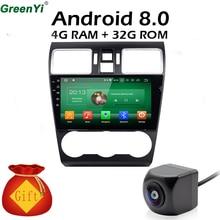 9 дюймов 4 ГБ Оперативная память Android 8,0 Octa Core 1024*600 автомобиля gps радио Fit Subaru WRX 2014 2015 2016 Автомобильный DVD навигации мультимедийный плеер