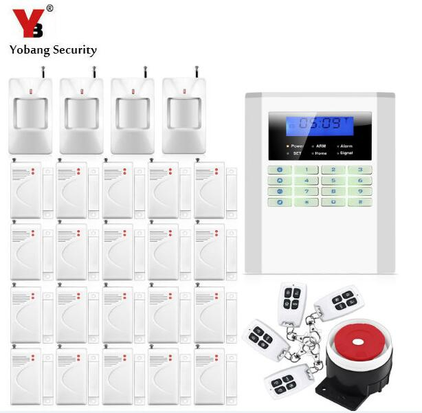 Yobang Security Home Security Alarm Smart Wireless/Wired GSM/PSTN alarm Burglar Voice PIR anti-theif Alarm 850/900/1800/1900Mhz wireless smoke fire detector for wireless for touch keypad panel wifi gsm home security burglar voice alarm system