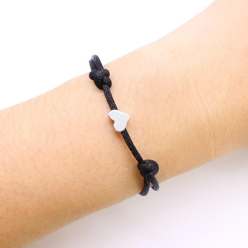 2019 new Lucky Heart star Bracelet For Women Children Red color Rope String Adjustable Handmade Bracelet Jewelry simple Bracelet 2