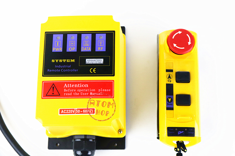 electric hoist with a direct control type industrial remote control built-in contactor with emergency stop A2HH/AC220V cob 61zyk 3 send 1 receive direct control hoist remote control