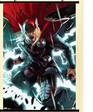 Thor Comic Marvel Anime Movie Poster Print Wall Art Decor Wall Scroll