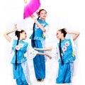 2016 Venda de Roupas Hmong Bordados Tradicionais Chineses Trajes de Dança Quadrado Fã Yangko Roupas Performance de Palco Desgaste do Cilindro