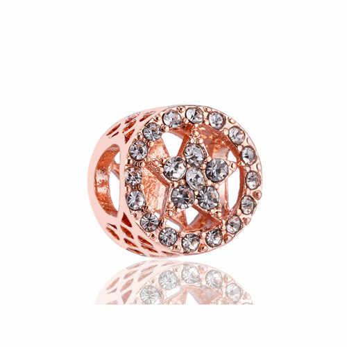 Великолепные полые кристаллы кокосового дерева подарок пчелы Астра привлекательные подвески в виде сердечек Бусины Подходят Пандора браслеты для женщин DIY ювелирные изделия