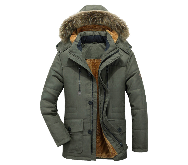 Thick Warm Parka Men New Hot Long Winter Jacket Men Hooded Military Cargo Mens Winter Coat Plus Size M-5XL 5