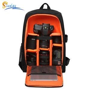Image 1 - Torba na aparat plecak wodoodporny DSLR plecak wielofunkcyjny plecak na zewnątrz torba na aparat fotograficzny dla Nikon aparat Canon obiektyw DSLR