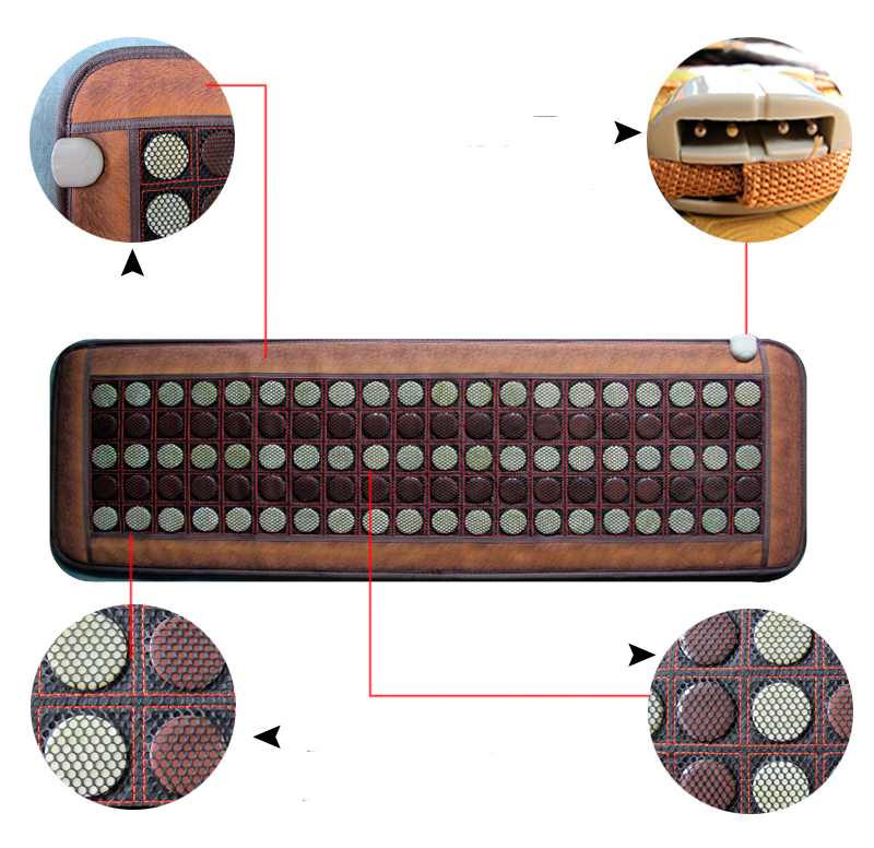 2016 Massage Electric Tourmaline Heating Mattress Jade Massage Cushion Healthy Heating Office Sofa Cushion For Sale 50*150CM jade mat electric heating massage mattress with therapy massage function for beauty center use 50 150cm