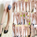 Free Shipping New Thin Models Fashion Tattoo Socks Velvet Pantyhose Music Note Pantyhose Wholesale