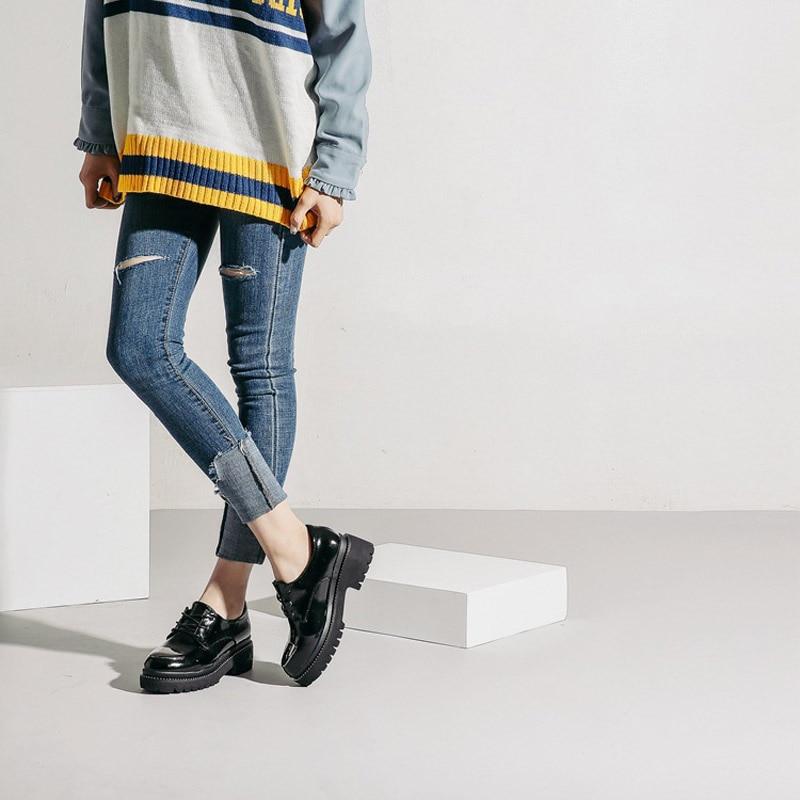 6ac2692443eb Verni En Marque Match Femmes Appartements Les Apricot Rond Tous Chaussures  Office Cuir Femme Fille Printemps noir 2018 De Loisirs Bout Jookrrix Mode  Lady ...