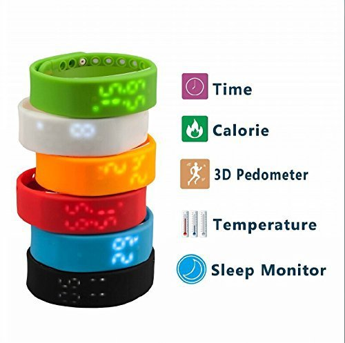 Slims Smart Bracelet Watch Pedometer Sleep Monitoring Temperature Monitoring Time Display Digital Time ,Lada Motion Sensor saat