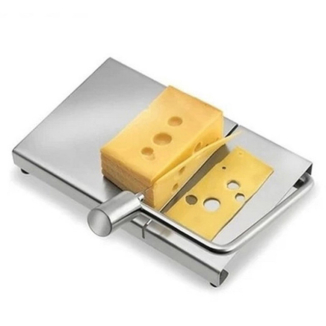 Nova Ferramenta de Aço Inoxidável Fatiador de Queijo 1 pc Queijo Slicer Cortador de Fio Com Servindo Board para Hard Queijo Semi Duro manteiga Dec20 #3