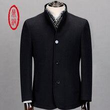 DINGTONG 2017 Brand Clothing Men Cashmere Wool Jacket Short Mens Overcoat Manteau Homme Sobretudo Male Pea Coat Plus Size M-4XL