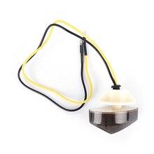 Mayitr 2pcs/set 12V Motorcycle Smoke Flush Mount Mini LED Turn Signal Light Blinker For Yamaha motorcycle led flush mount turn signals blinker light
