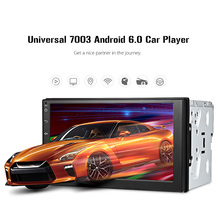 Universal Car Multimedia Player 7inch Touch Screen 2Din Android 6.0 MP5 Video Player with FM Radio Bluetooth GPS WiFi Capacitive swm a2 2din 7 touch screen android 8 1 car radio stereo video mp5 player gps navi bluetooth wifi usb tf mp4 multimedia player