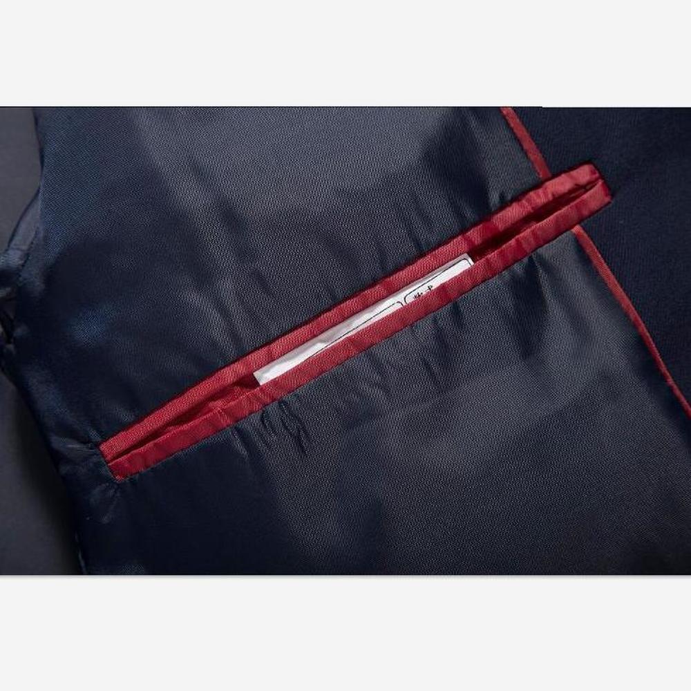 02de94067 Traje de 3 piezas para hombre (chaqueta + pantalón + chaleco) traje ...