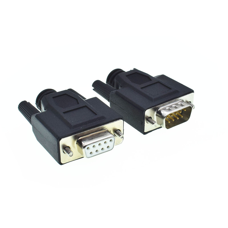 New 9PIN D-SUB Connector DB9 Female/Male RS232 Solderless Connectors