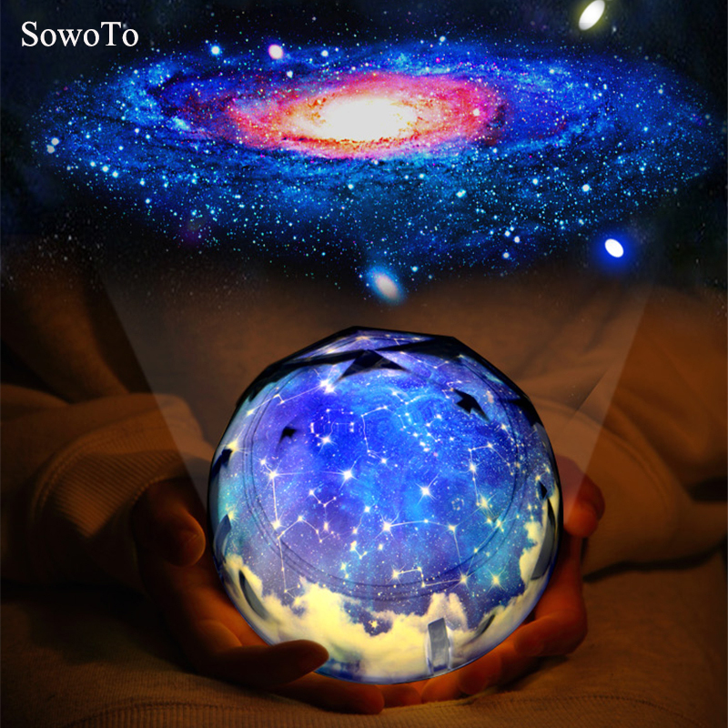 New Color Interstellar Creative Night Light Planet Magic Projector Universe Lamp LED Music Rotary Flashing Starry Projector Xmas bison rolling grill