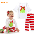 VICVIK Brand Kids Clothes Sets for Girls Children Christmas Cute Clothing Gift for Baby Girl Top + Pant Fashion Celebration Wear