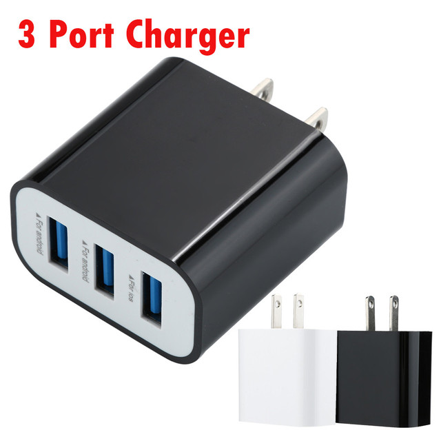 f0b3b2df23e359 Smart Universal 5V 3.1A US 3-Port USB 2.0 Wall Charger Charging For  Smartphone PSP Game Device MP4 MP3 Watch PAD BAY14