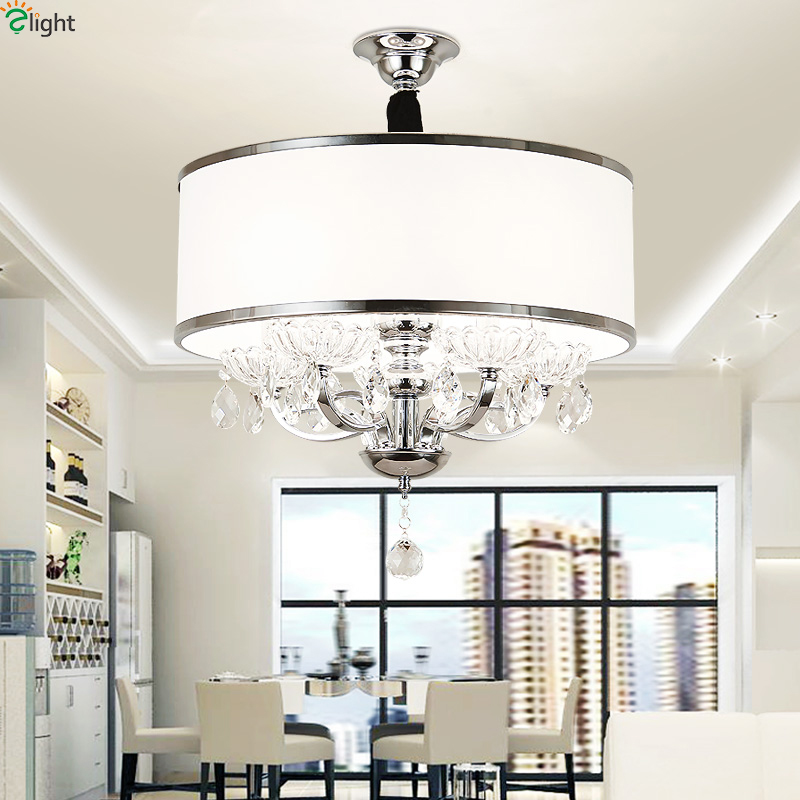 Modern Lustre Crystal Led Pendant Lights Chrome Metal Dining Room Led Pendant Light Bedroom Pendant Lamp Hanging Light Fixtures modern led crystal pendant lights fixtures magic crystal ball lustre loft stairwell 12 crystal light meteor shower crystal lamp
