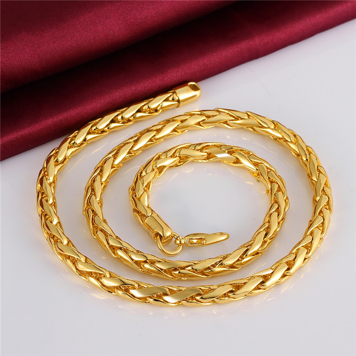 Factory Wholesale Long Gold Chain Necklace Design For Men With ...