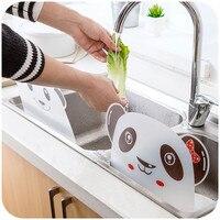 パンダの形のシンク水スプラッシュプール不浸透性バッフルプレートガジェット吸引カップラックキッチンアクセサリープラスチック棚|油はねガード|ホーム&ガーデン -