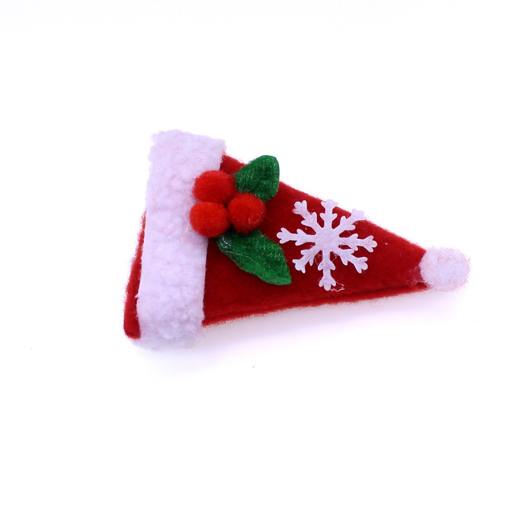50ps Christmas Pet Dog Hair Bows Christmas hat Pet Hair Accessories Alloy clip Hair Bows Dog Holiday Grooming Accessories
