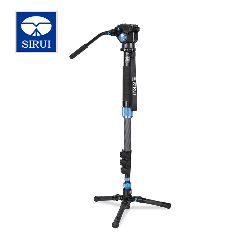 Sirui EP-224S EP224S Monopod carbon fiber Table Top Tripod + VA-5 head ,4 Section Max Load 8kg sirui p204s professional monopod photo video monopod for dslr camera aluminum table tripod 4 section carrying bag max load 8kg