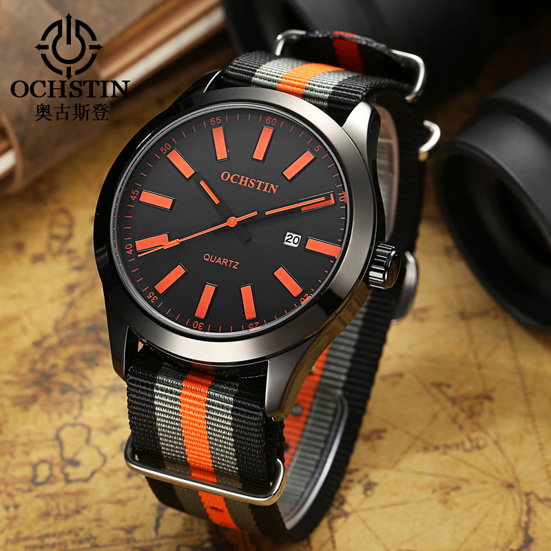 OCHSTIN Watch Men Male Sports NATO Nylon Strap 3ATM Waterproof Men Clock Hour Fashion Relojes Hombre 2017 Hodinky Men Coupons