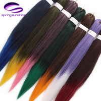 Spring sunshine 10 pcs Synthetic Braiding Hair 24 EZ Jumbo Braids Hair Ombre Crochet Braiding Hair Easy Braid Hair Extension