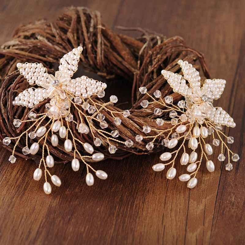 Moda Ayakkabı Tokası El Yapımı Inci Lüks Düğün Ayakkabı Gelin Yüksek Topuk Dekorasyon Çiçek Dekorasyon Takılar Aksesuarları