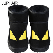 JUP 13 Styles Classic Leather Cowhide Snow Boots Mans Women Couple Thick Boots With flat Boots Duantong Monster Leopard Cat Dog