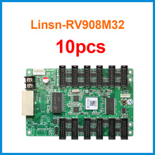 10pcs Linsn RV908 RV908M32 receiving card 12xHub75E Ports Support P2/P2.5/P3 Indoor 1/32 Scan LED Module Display