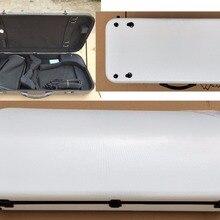 Чехол для скрипки/альты из комбинированного углеродного волокна, регулируемый размер, двойной чехол для скрипки, белый цвет