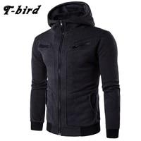 T Bird Hoodie Men Cardigan Sweatshirt Hip Hop Mens 2017 Brand Hoodies Winter Male Fake Two