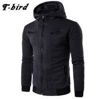 T Bird Hoodie Men Cardigan Sweatshirt Hip Hop Mens 2017 Brand Hoodies Winter Male Fake Two