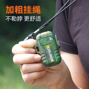 Image 3 - Мини зажигалка плазменная с зарядкой от USB, камуфляжная