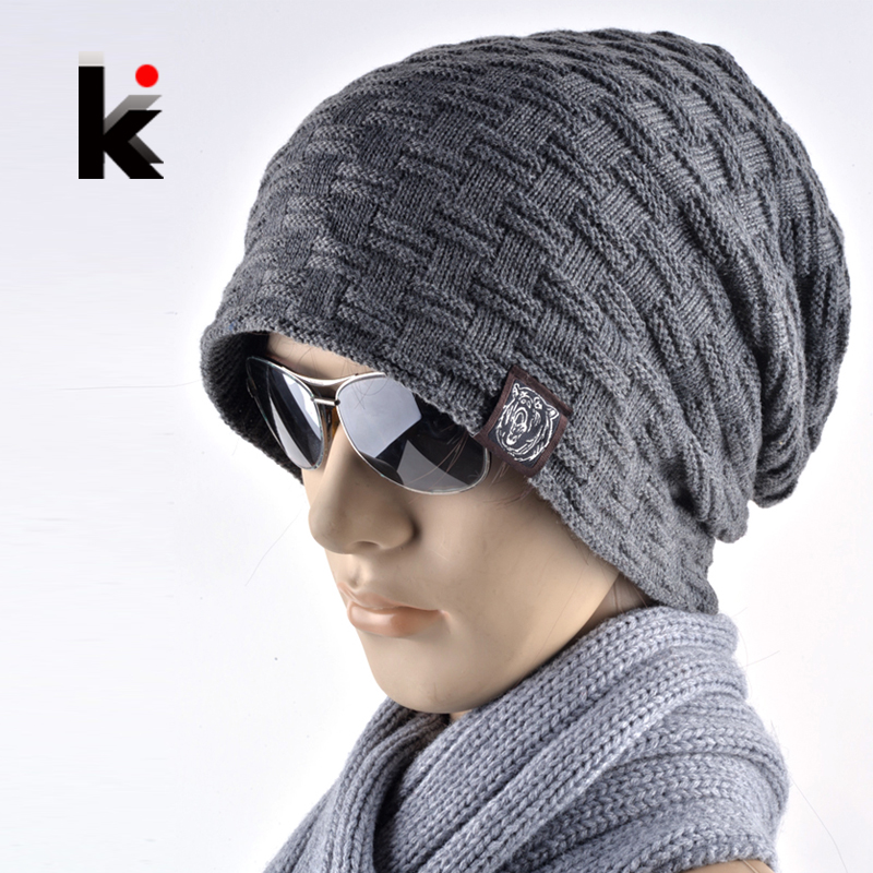 Autumn And Winter Bonnet Hats For Men And Women Beanie Stocking Hat Casual Keep Warm Knitted Hat Skullies&Beanies 7 Colors