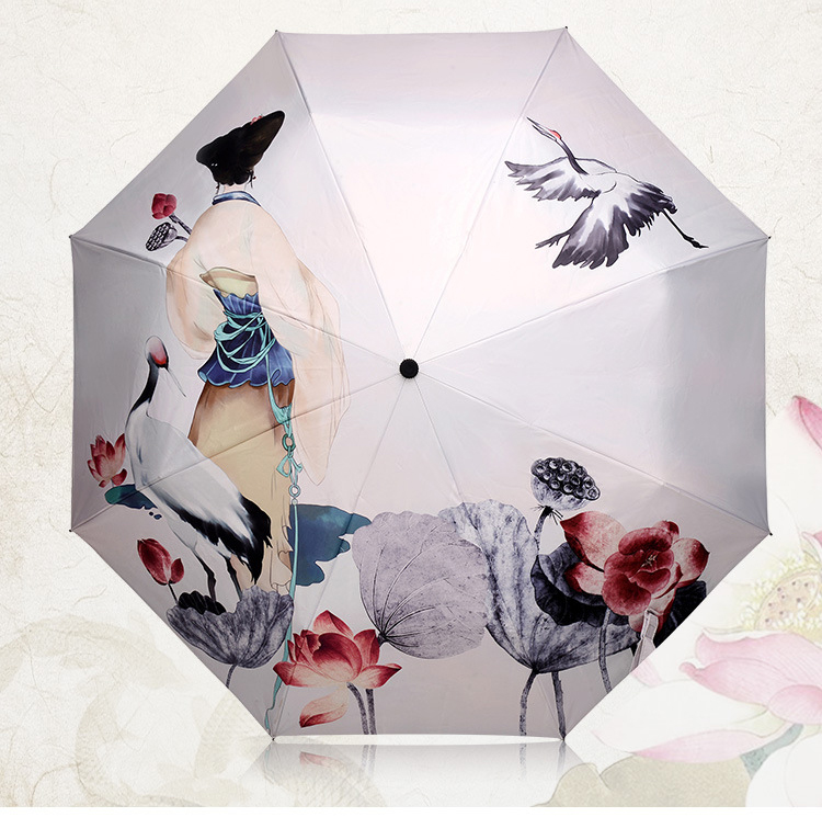 Chuva Mulheres Guarda-chuva Guarda-chuva uv Guarda-chuva De