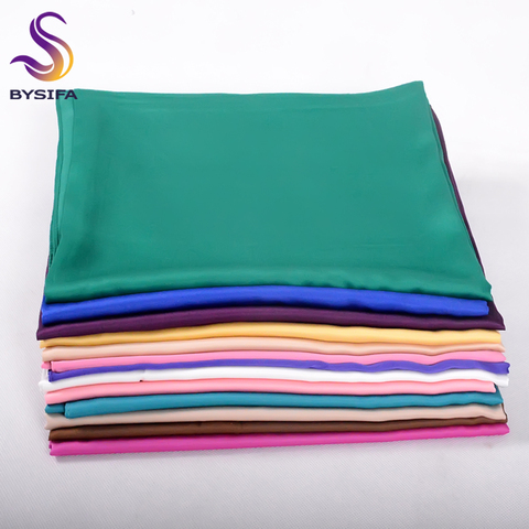 [BYSIFA] New Solid Color Women Large Square Scarves Wraps 100*100cm Autumn Winter Luxury Matt Satin Silk Scarf Brand Head Scarf Pakistan