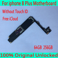 Для iphone 8 Plus материнская плата без Touch ID, с бесплатным iCloud для iphone 8 Plus материнская плата, 100% Оригинал разблокирован, хорошее тестирование