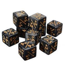 10 unids/set dados de conteo blanco negro 14mm ángulo recto, dado + 1/-1 dados niños juguete fiesta inicio dados para el juego de la magia la reunión