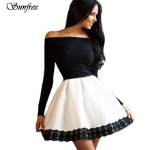 Sunfree 2016 Neuer Heißer Verkauf Mode Sexy Frauen Casual Langarm Abendgesellschaft Kurzes Kleid Marke Neue Hohe qualität Dezember 12