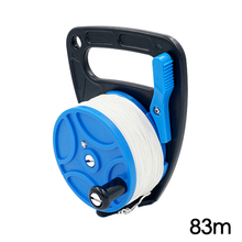 Dive Wreck Cave Reel with Handle Line Thumb Stopper Clip Hook for Underwater Scuba Diving Diver Snorkeling