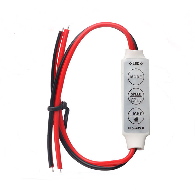 2pcs Lot 12v Mini 3 Keys Single Color Led Controller Brightness Dimmer For Led 3528 5050 Strip