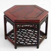 A hundred years old] micro imitation of Ming and Qing Dynasty furniture model miniature furniture rosewood six corner table
