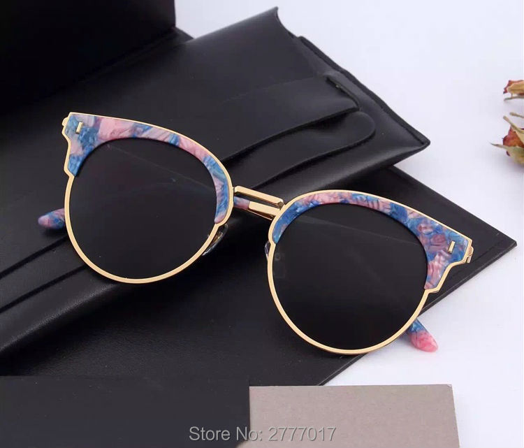 Aliexpress.com  Compre Eyeglasse suave kong GM type1 Metade quadro Óculos  De Sol para As Mulheres Armações redondas Do Vintage Senhoras De Sol  Feminino com ... f7f5638e74
