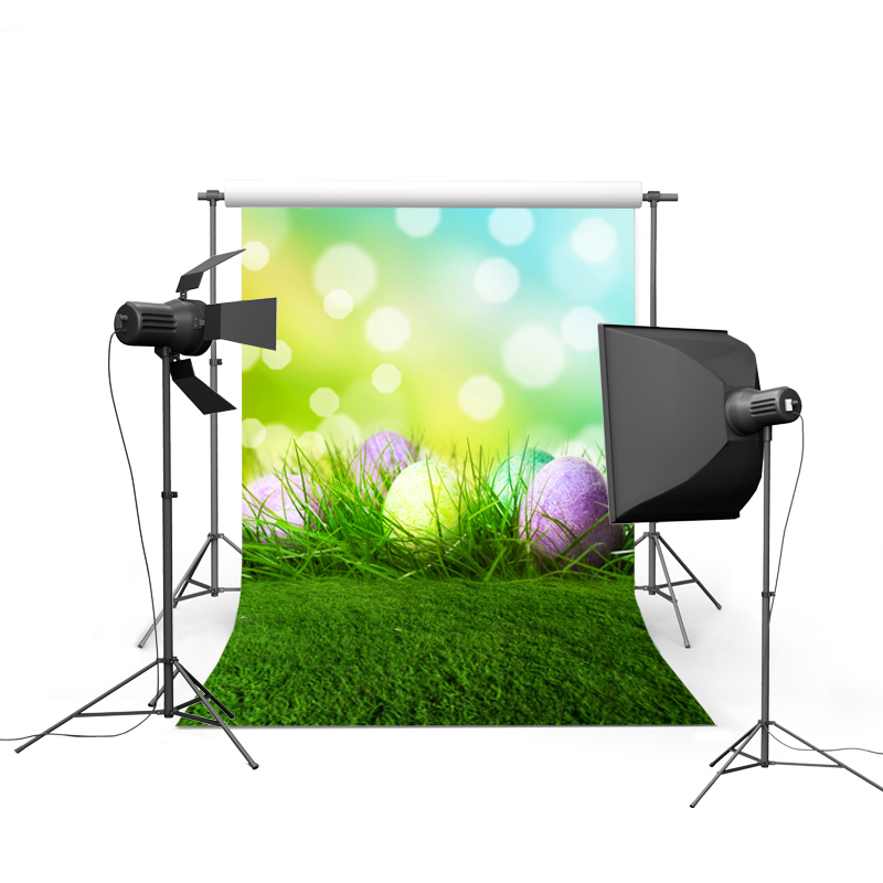 1.5MX2.2M easter eggs in grass printed thin vinyl Easter photography backdrops for spring theme photo GE-053