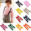 2017 Unisex Crianças Das Meninas do Menino Suspensórios Clip-on com Cintas Elásticas Ajustáveis Crianças Vestuário Acessórios 6 cores