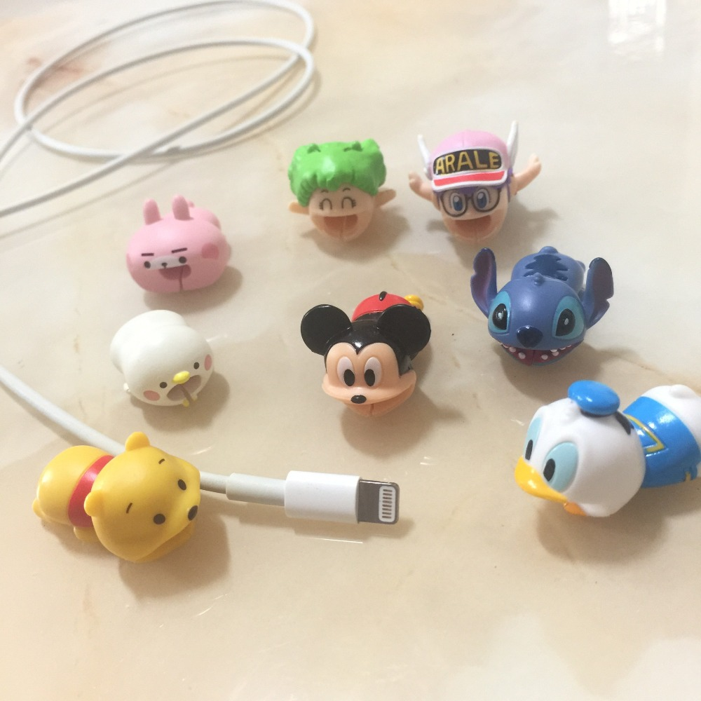 Newest Cable Accessory Cable Animal Bites Cartoon USB Cable Cord Protector For iphone 8 7 6 USB cable protection Sleeve Protect in Cable Winder from Consumer Electronics